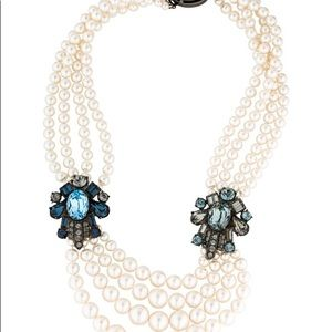 LANVIN Multistrand Faux Pearl Bead Necklace